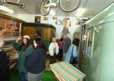 Visitors to the Vintage Trailer Museum