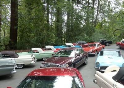 Thunderbirds in parking lot